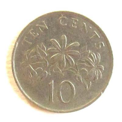 Singapur 10 centů 1986