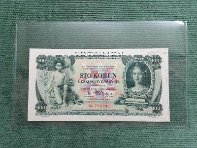 100 Kč 1931, série Na, SPECIMEN, stav UNC