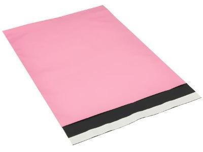 Plastové obálky  světle růžové - 250x350 mm - 10 ks