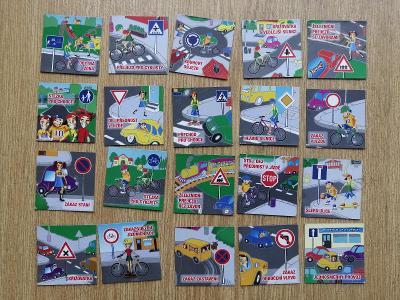Magnety - Kostíci a dopravní značky