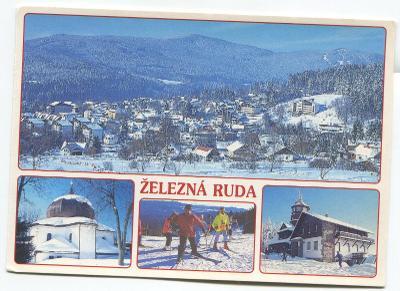 ŽELEZNÁ RUDA, o. Klatovy, Šumava-kostel, Pancíř-restaurace, rozhledna