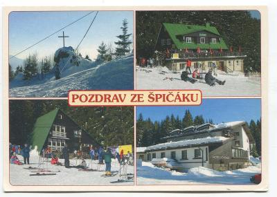 ŽELEZNÁ RUDA-ŠPIČÁK, o. Klatovy, Šumava-kříž, penzion Blaženka....