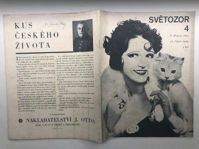 SVĚTOZOR 4 z roku 1929 - starý časopis pro všechny o všem ze světa