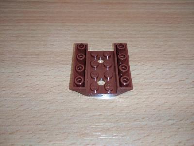 Lego díl 72454 - šikmá hnědá