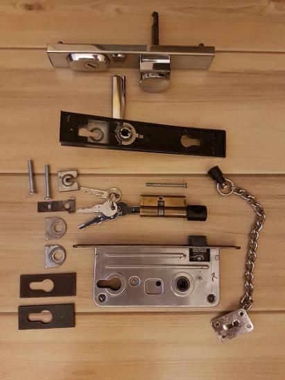 Bezpečnostní kování ROSTEX  R1 - klika - koule - Zabezpečovací systémy