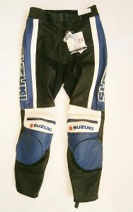 Kožené kalhoty SUZUKI- vel. 38/S-10, pas: 80 cm