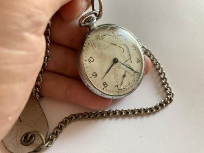 Staré stříbrné kapesní hodinky z pozůstalosti!!!
