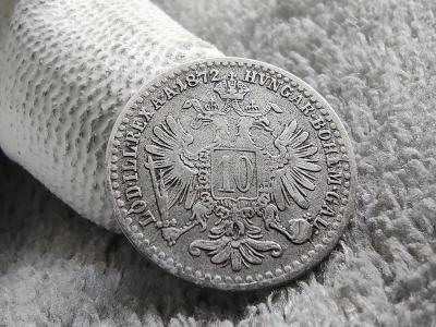 10 Krejcar 1872 bz / AG / František Josef I