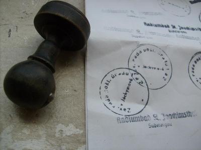 Jáchymov razítko kulatý  - Záv. rada pošt. úřadu 1 v Jáchymově