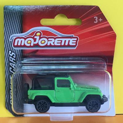 Jeep Wrangler Rubicon zelená - Majorette 1/60 (H11-x)