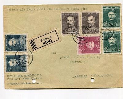 PRAHA - R + DOBÍRKA  - ASI FILATELIE SVOBODA   1948 /AT 6-2
