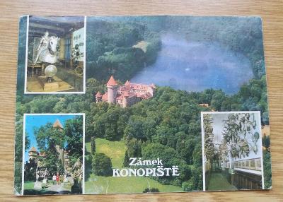 Pohled  zámek Konopiště