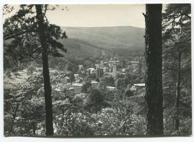 DUBÍ, o. Teplice, Krušné hory - celkový pohled, lázně