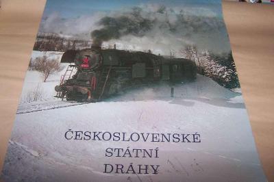 ČSD PARNÍ LOKOMOTIVA 47 x 32 plakát z kalendáře  výstřižek