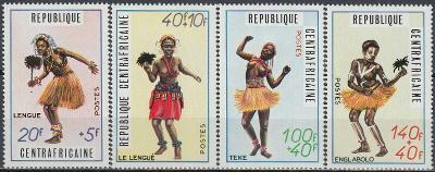 Středoafrická republika 1971 Známky Mi 230-233 ** tanec folklór