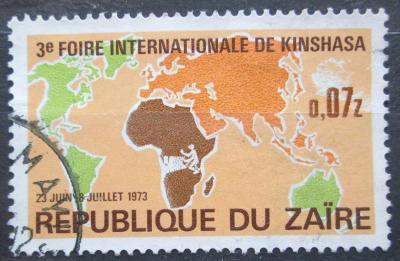 Zair 1973 Mapa světa Mi# 480 2178