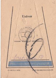 ČSSR-poštovní uzávěr