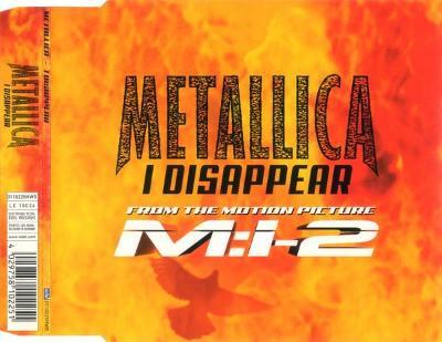 METALLICA-I DISAPPEAR CD SINGLE 2000.