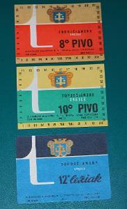 Pivní etikety ČSSR 70 léta