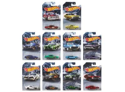 Sada Hot Wheels - 10 modelů US auta - Ford Pontiac Shelby Buick Chevy