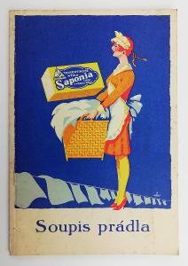 mýdlo Saponia reklama brožura 1. republika
