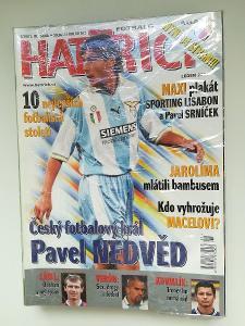 Fotbalový časopis Hattrick ročník 2001 komplet Nedvěd Lazio