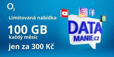 DATAMANIE - O2 SIM karta Datamánie 100GB/300Kč/měsíc