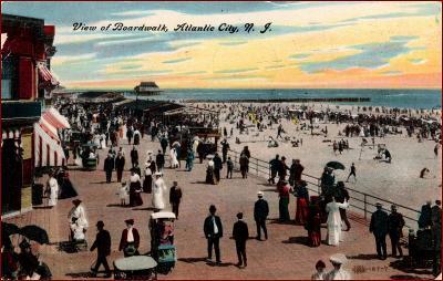Atlantic City (New Jersey) * promenáda, lidé * Amerika (USA) * Z2401