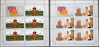 Niue 1977 královna Elizabeth II silver jubileum, 2ks aršík, kat. 25Eur