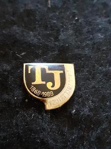 Odznak TJ RZ DOBŘÍŠ, výroční 120 let 1868 - 1988
