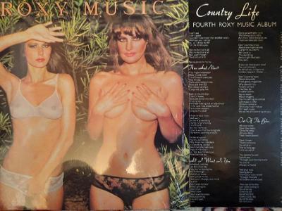 Roxy Music – Country Life LP 1974 vinyl Germany 1.press super stav EX