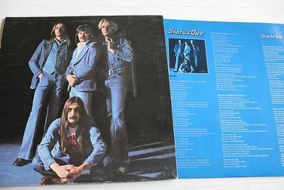 Status Quo – Blue For You LP 1976 vinyl UK 1.press super stav EX+