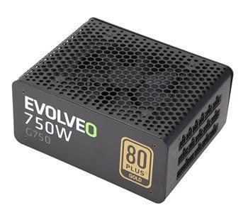 Zdroj EVOLVEO G750 750W modulární, aPFC, 80+GOLD, účinnost až 91% zár.