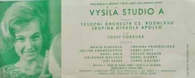 leták, Československý rozhlas, 1966
