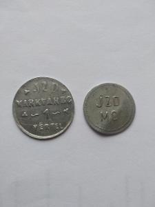 Chmelové známky JZD Markvarec 2 ks