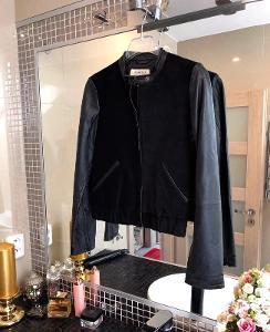 Stylová kožená bunda - Mango -