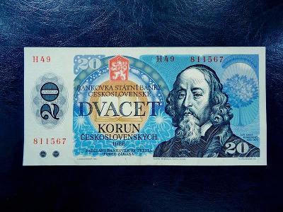 20 korun 1988 Serie H 49 NEPERFOROVANA