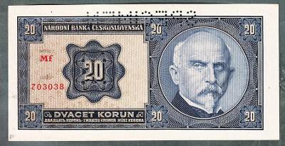 20 korun 1926 serie Mf perf. stav 0