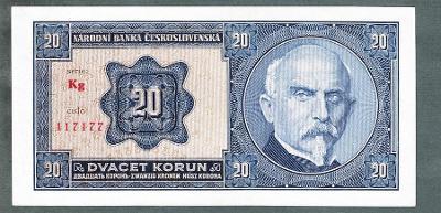 20 korun 1926 serie Kg NEPERFOROVANA stav 0