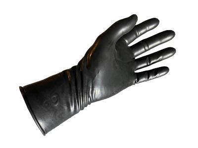 Latexové fetish gumové rukavice černé velikost 8.5 délka 28cm