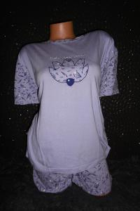 příjemné dámské pyžamo pružná tričkovina S/M