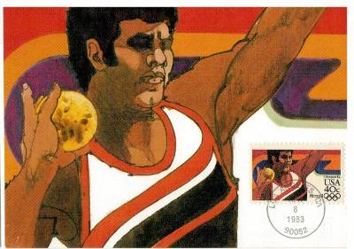 Spojené státy 1983 Známky Karta maximum CM sport Olympiáda olympijské