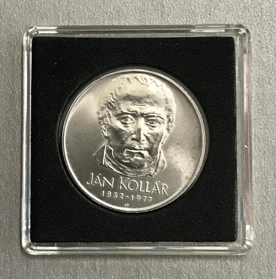 🌶Velmi vzácná stříbrná mince 50 Kčs 1977 - Ján Kollár - Numismatika