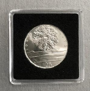 Stříbrná mince 25Kčs Osvobození Československa 25. výročí 1970