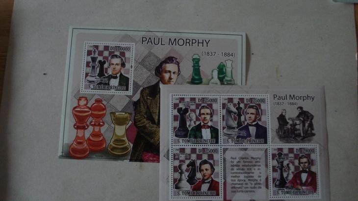 Tome e Principe -  aršík + KLB  šachy  ++ - Filatelie