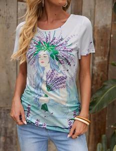 Nové! Krásné  tričko levandulová víla vel. M/38-40