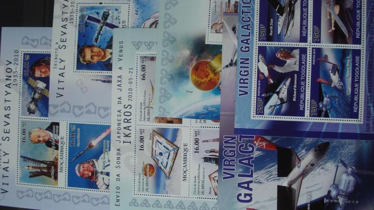 Mozambik - Togo  - 3 x aršík + KLB kosmos ++ - Filatelie
