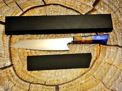 K27/ Damaškový kuchynsky nůž. Ocel VG-10 SAN MAI HYBRIDNÍ RUKOJEŤ