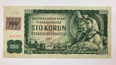 100 Kčs 1961 ( kolek)