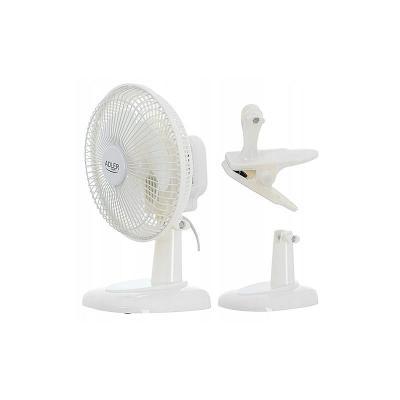 AGD36 Větrák ventilátor elektrický s klipem a stojanem AD 7317 15cm